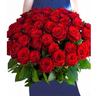 Buchet 49 trandafiri roșii