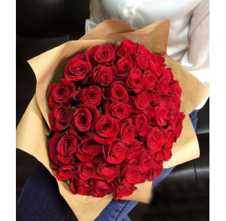 Buchet cu 55 trandafiri