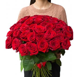 Buchet cu 39 trandafiri roșii