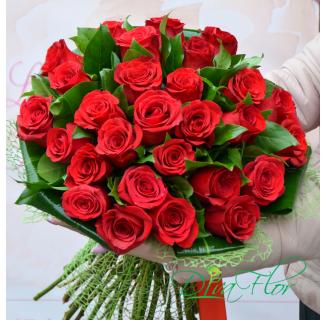 Buchet 25 trandafiri roșii