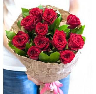 Buchet 11 trandafiri roșii