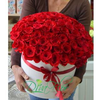 Cutie cu 71 trandafiri