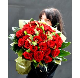 Buchet 27 trandafiri