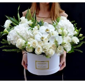 Cutie Ana cu flori albe
