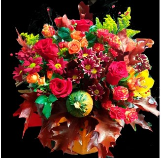 Bostan cu flori de toamna